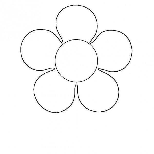 Flor De 5 Petalos Para Colorear
