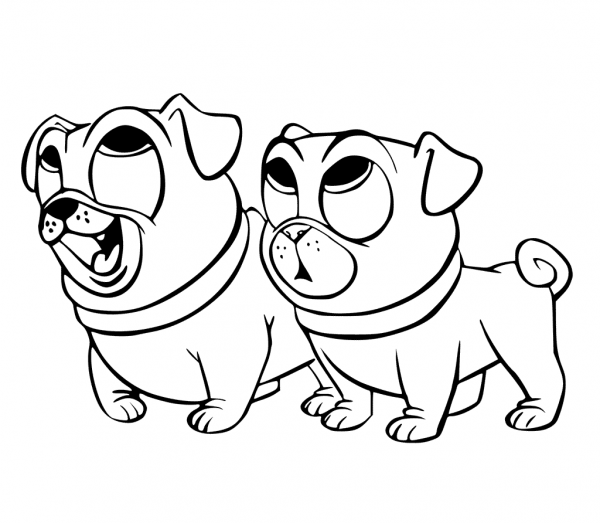 Puppy Dog Pals Coloring Page Free Printable
