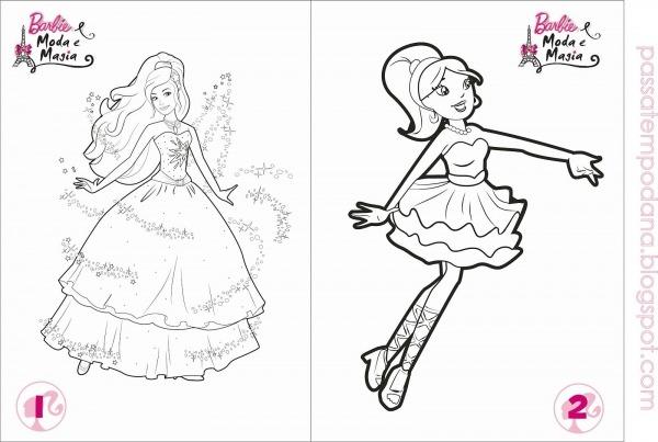 Patempo Da Ana Livrinho Para Colorir Barbie Moda E Magia