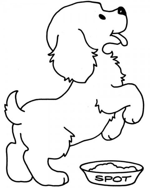 Dibujos Para Colorear De Perros Cachorros Dibujos Para Colorear De