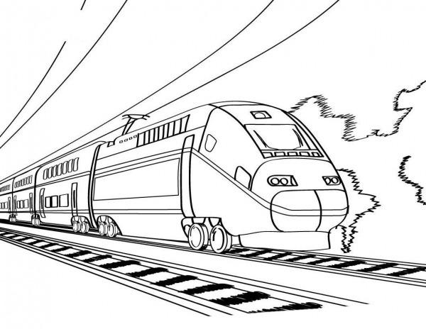 Resultado De Imagem Para Desenho Do Trem Bala Para Colorir