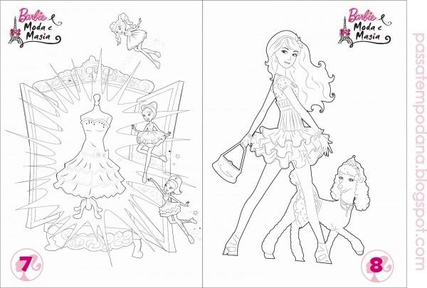 Desenhos Para Colorir Da Barbie Moda E Magia