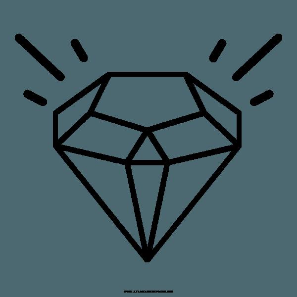 Diamante Desenho Para Colorir