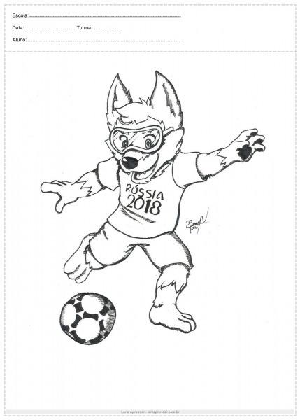 Atividade Para Colorir Copa Do Mundo Mascote