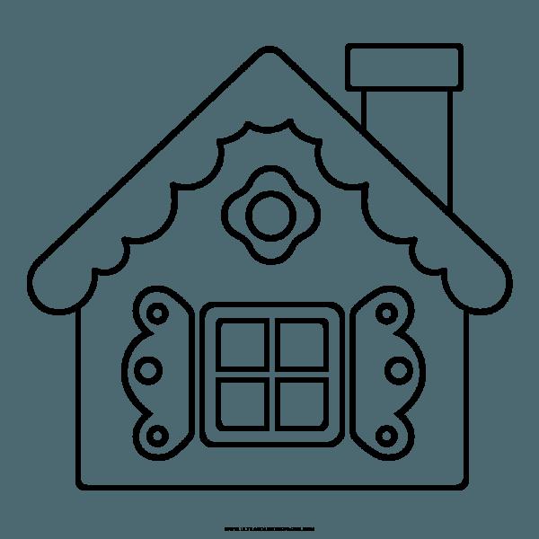 Casa De P̣o De Gengibre Desenho Para Colorir РColoring City