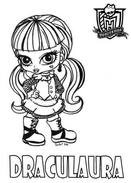 Desenhos Para Pintar Monster High Baby