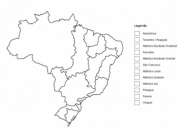 Mapa Dos Rios Do Brasil