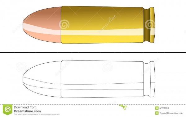 Bala Para Colorir Ilustração Do Vetor  Ilustração De Arma