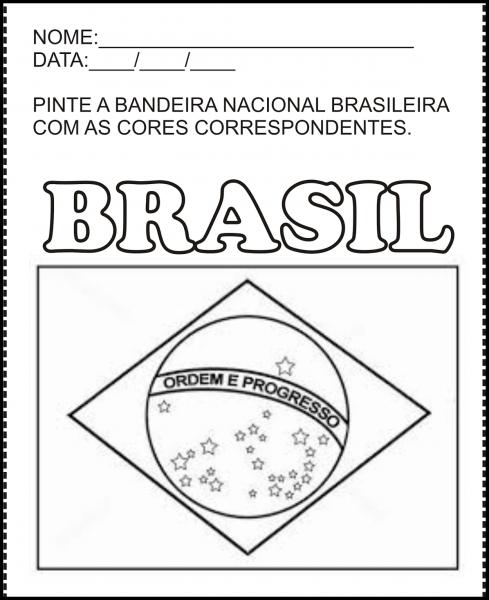 Bandeira Do Brasil Para Colorir E Imprimir – Muito Fácil – Colorir