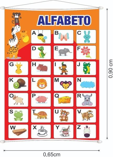 Banner Alfabeto Didático 1 Letra