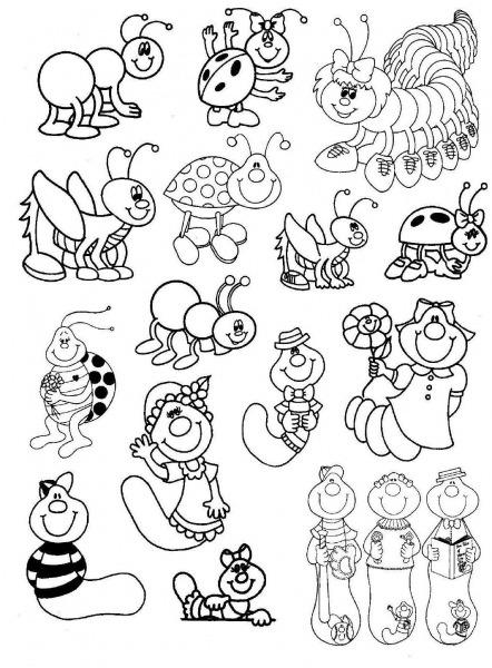 Baú Da Web  Desenhos De Bichinhos De Jardim Para Colorir ( Parte1)