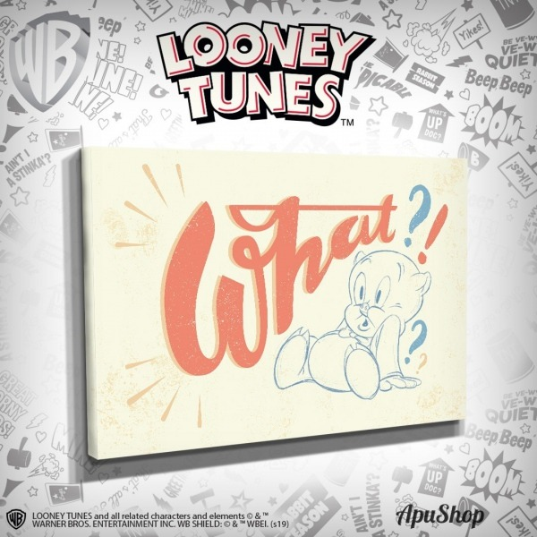 Cuadros Frases Looney Tunes 60x40 Porky Pato Lucas Taz Bugs
