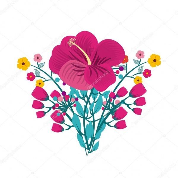 Folha De Desenho De Lindas Flores — Vetores De Stock © Yupiramos