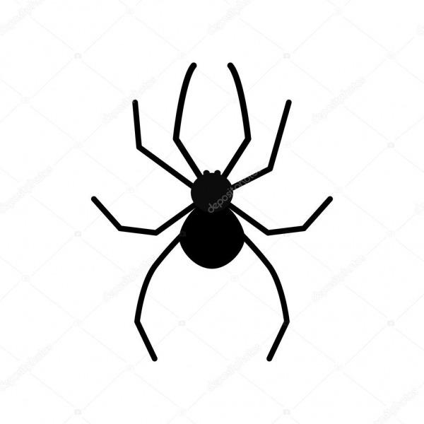 Aranha Desenhos Animados Preto — Vetor De Stock © Worldofvector