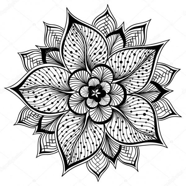 Imágenes  Contorno Flores Para Pintar