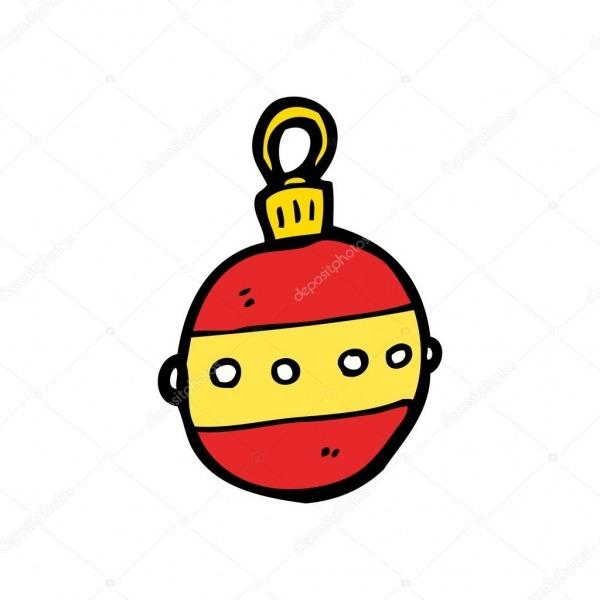 Enfeites De Natal Dos Desenhos Animados — Vetores De Stock