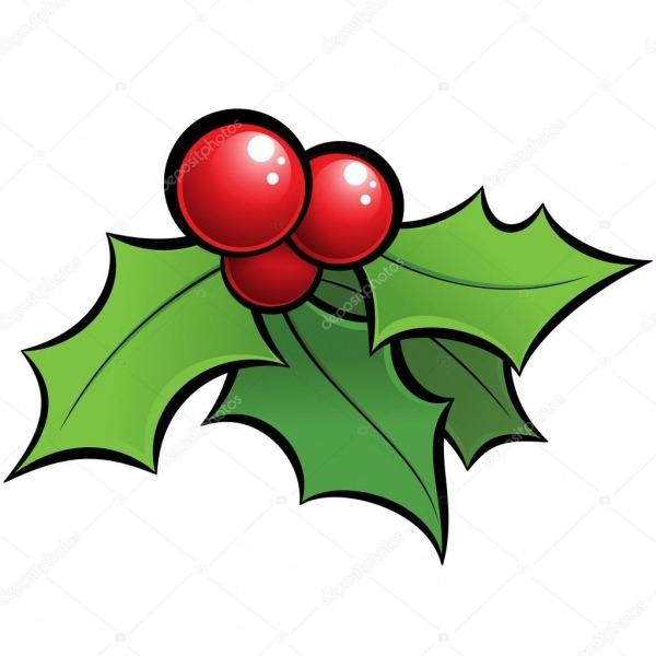 Desenhos Animados Vetor Holli Brilhante Visco Enfeite De Natal Com