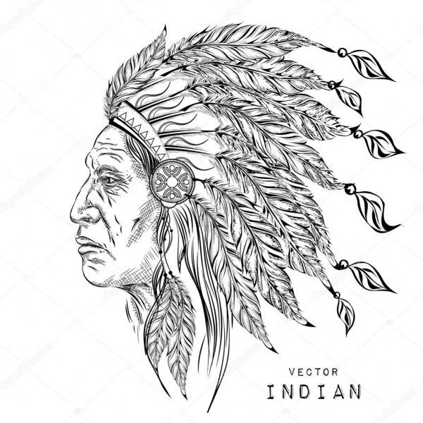 Homem O Chefe índio Nativo Americano  Preta Barata  Cocar De Penas