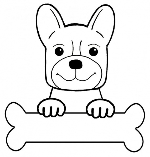 Desenho De Cachorro Para Colorir, Imprimir E Moldes Para Pintar