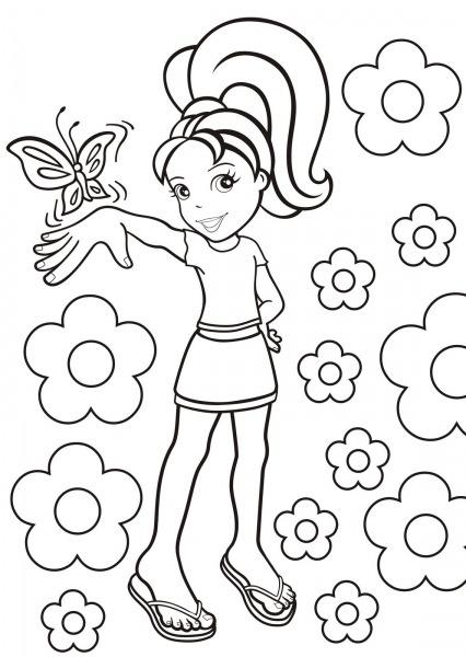 Desenho Para Imprimir E Pintar Da Polly – Free Coloring Pages