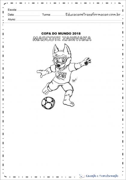 Desenhos Colorir Copa Do Mundo
