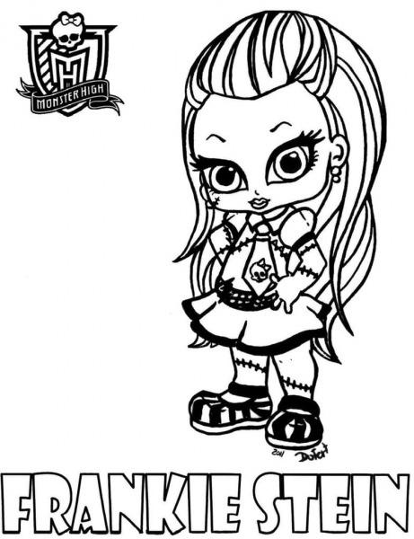Desenhos Para Pintar Da Monster High Baby