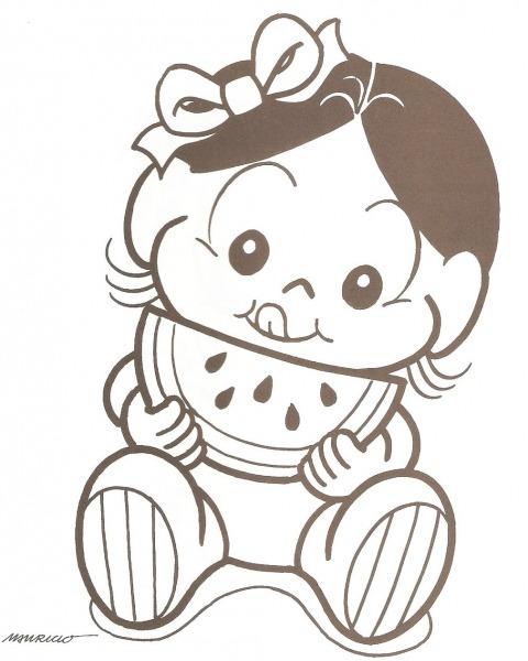 Desenhos Para Imprimir Da Turma Da Monica Baby