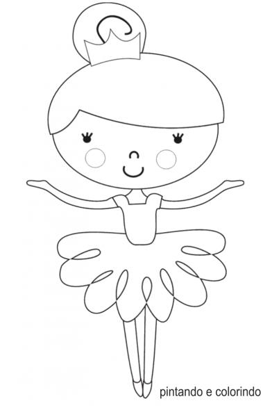 Desenhos Para Colorir Da Bailarina