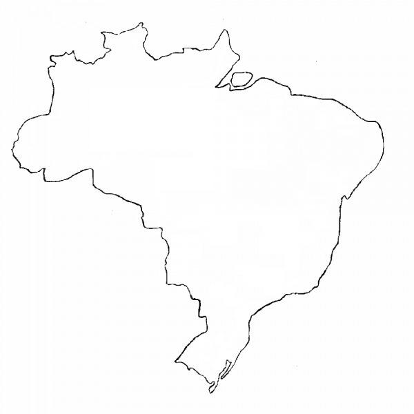Desenho Do Mapa Do Brasil Para Colorir