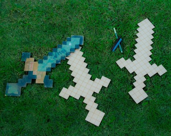 Espada De Diamante Para Colorir No Elo7