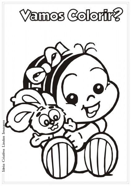 Desenhos Para Colorir Monica Baby