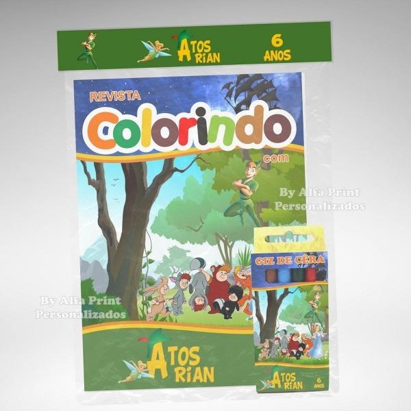 Kit Colorir Peter Pan + Brindes No Elo7
