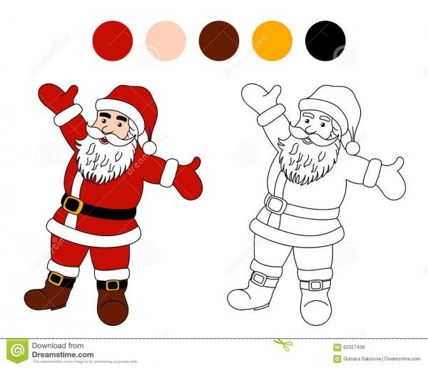 Livro Para Colorir  Papai Noel Tema Do Natal Para Crianças