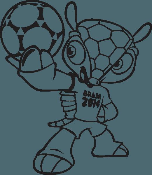 Mascote Da Copa Para Colorir