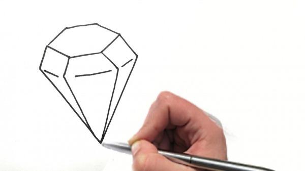 Como Desenhar Um Diamante Para Colorir 💎💎💎