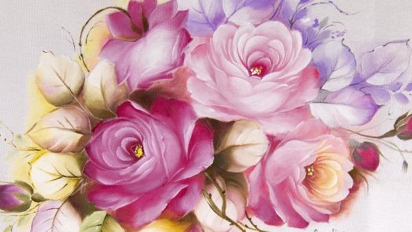 Segredo Para Pintar Rosas Perfeitas Em Tecido
