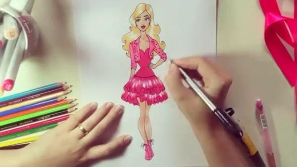 Desenho De Moda Barbie