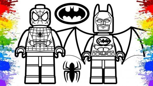 Lego Marvel Batman Homem Aranha Jogos De Pintar Crianças Desenhos