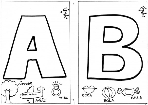 Letras Do Alfabeto Para Colorir
