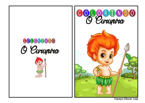 O Curupira Livro De Colorir Com Atividades Ed  Infantil