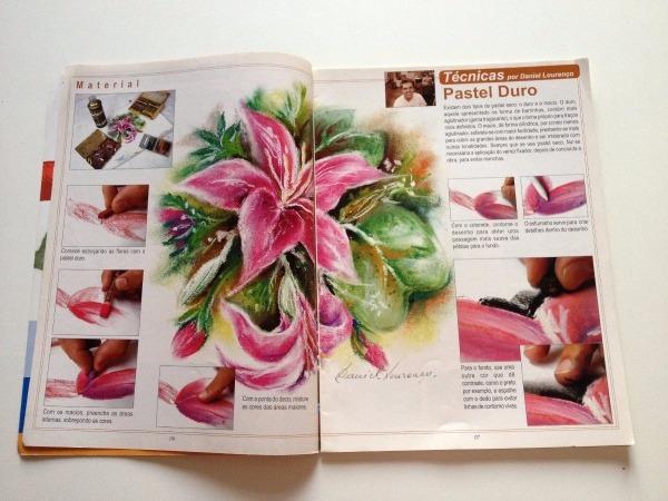 Revista Pintando Em Tela Flores Em Diferentes Estilos B584