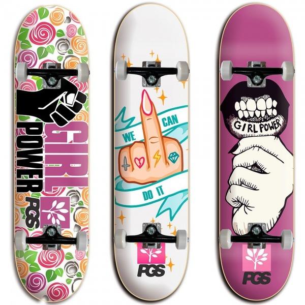 Skate Feminino Iniciante Barato Vários Desenhos Frete Grátis