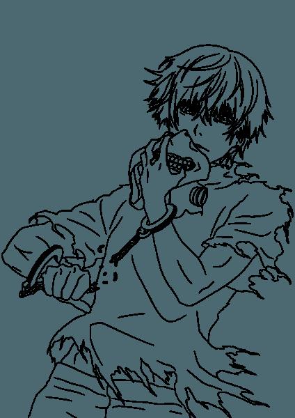 Desenho De Tokyo Ghoul Anime Para Colorir
