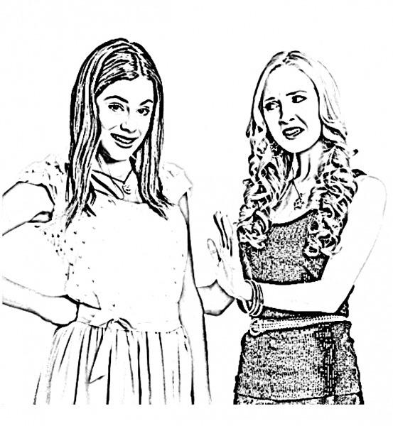 Desenho De Violetta E Ludmila Para Colorir
