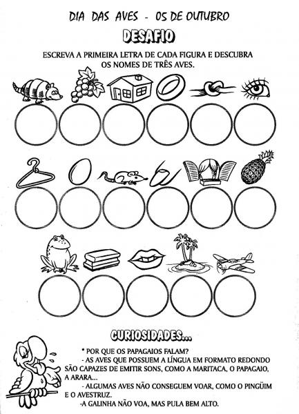 80 Atividades Dia Das Aves ExercÍcios Desenhos Colorir Imprimir