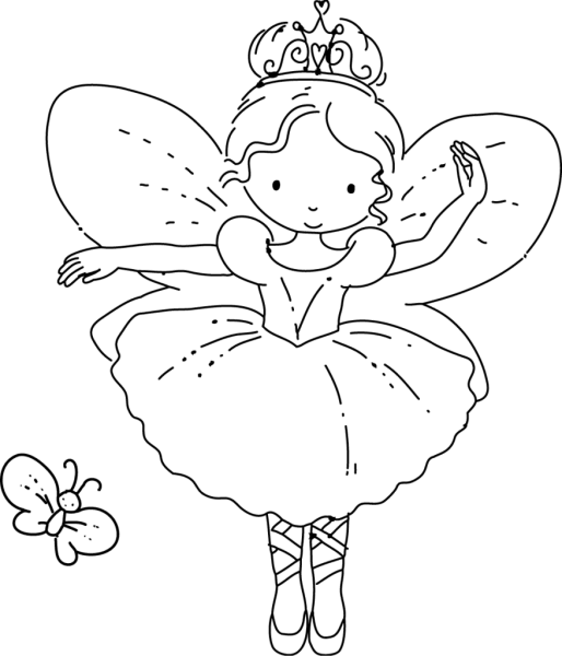 Adult Fairy Coloring Pages Babies