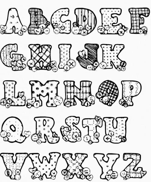 Alfabeto Para Pintar Em Fraldas