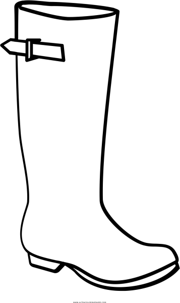 Rainboot Coloring Page