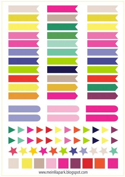 Bandeiras E Marcadores Grátis Para Imprimir Calendário