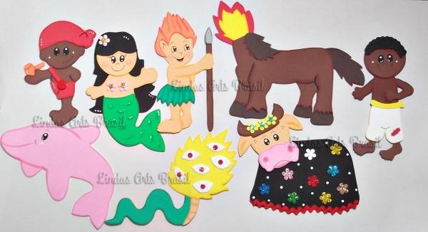 Apliques  Personagens Do Folclore Brasileiro